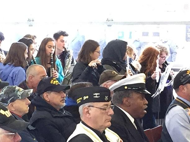 The City Honors Instrumental Ensemble provided music for the Buffalo and Erie County Naval and Military Park's Pearl Harbor Remembrance ceremony.