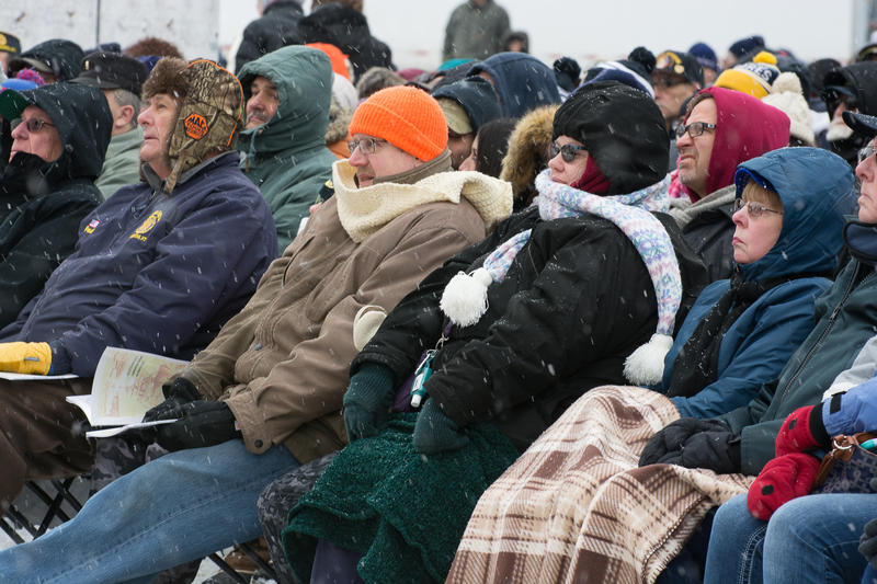 Thousands of Western New Yorkers and visitors from abroad brave the cold and snow during the commissioning of the new USS Little Rock.