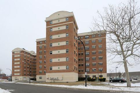 Frederick Douglass Towers is located at Spring and Clinton streets in Buffalo.