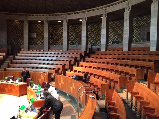 Buffalo's Common Council chamber is a landmark, but not handicapped accessible.