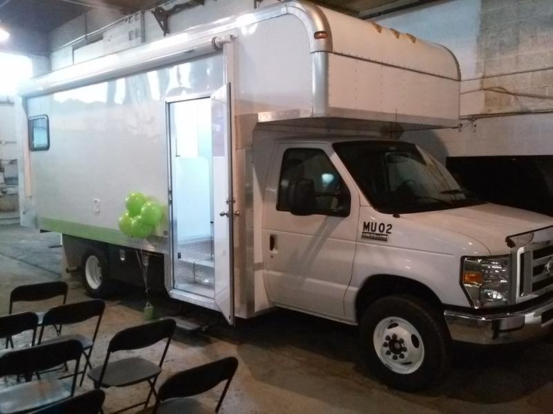 One of the two mobile addiction treatment units introduced Tuesday by BestSelf Behavioral Health.