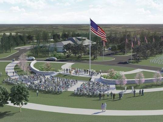 A rendering of the new national veterans cemetery in Pembroke.