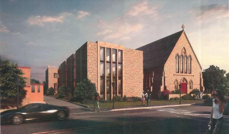 A rendering of the senior housing project.