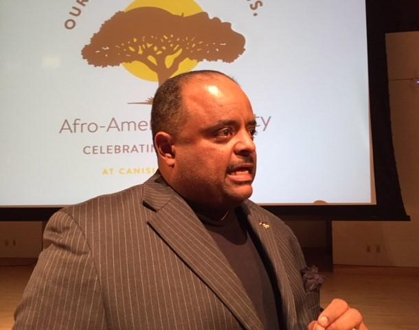 Roland Martin spoke Tuesday at the 50th anniversary of the Canisius College Afro-American Society.