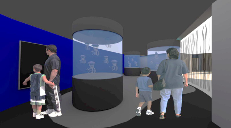 A rendering of the jellyfish exhibit that will be constructed and opened by the end of this year at the Aquarium of Niagara.