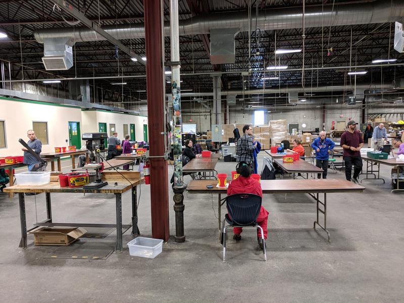 People with disabilities at work inside The Arc of Erie County