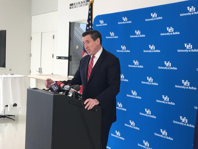 Erie County District Attorney John Flynn at UB.