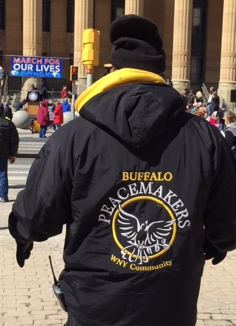 Buffalo Peacemakers on scene at Niagara Square.