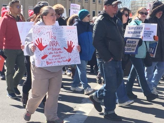 Thousands march from Buffalo's City Hall, around County Hall and back for the March For Our Lives.