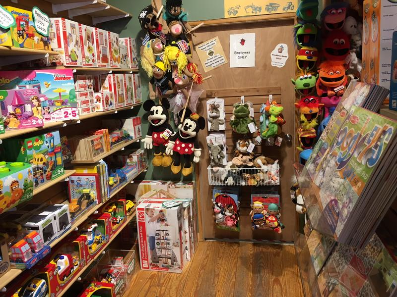 Some of the Disney toys and other puppets at the TreeHouse