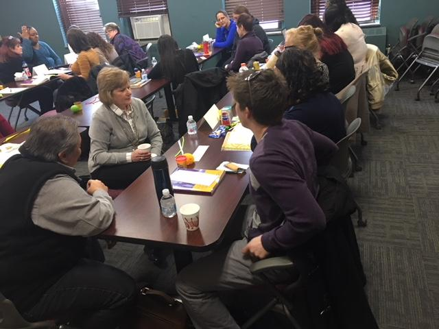Compeer delivers a Mental Health First Aid session in a classroom on the Baker Victory Services campus in Lackawanna.