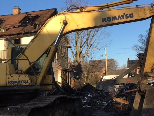 Emergency demolition was carried out Friday.
