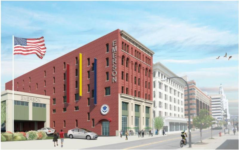 An exterior rendering of what Emerson Two will look like by day.