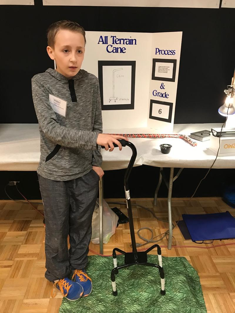 Inventor of the Year Mason Herington created a self-leveling cane so his grandfather wouldn't fall.