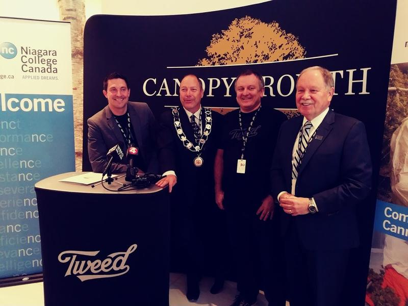 Canopy Growth Corporation and  Niagara College Canada make announcement of partnership