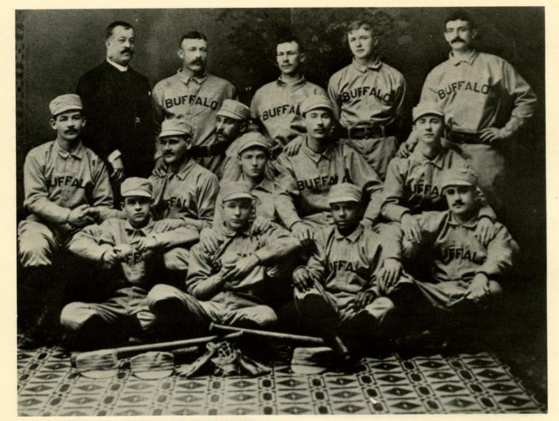 The 1887 Buffalo Bisons of the International League. Frank Grant is in the bottom row, second from the right.