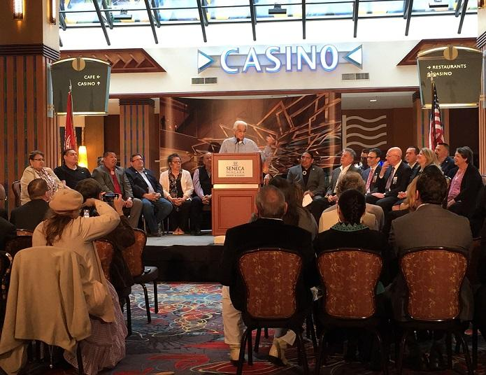 Sr Speaks During The Friday Morning Announcement Of A 40 Million Project Inside And Outside Hotel At Seneca Niagara Resort