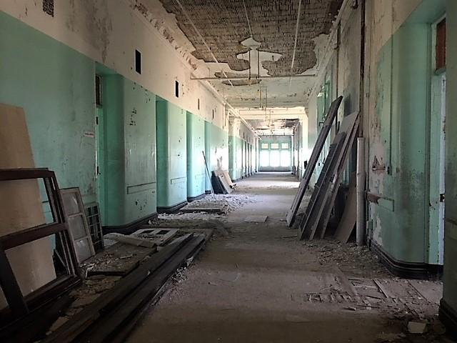 Inside section of former psych center.