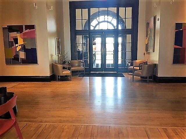Lobby of Hotel Henry restored.