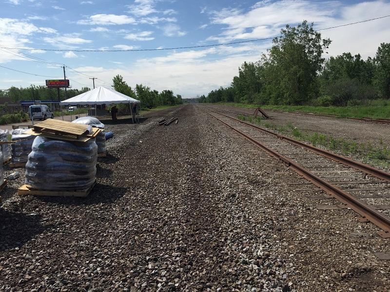 Rail lines are being removed on former Bethlehem Steel land in Lackawanna. Plans call for the eventual creation of a mixed-use space with emphasis on light industry.