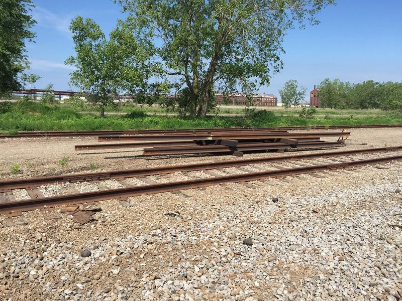 Railroad tracks no longer used along Route 5 are coming up in Lackawanna.