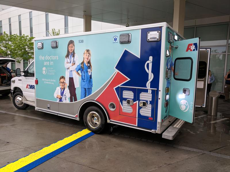The new neonatal transport vehicle at the Oishei Children's hospital