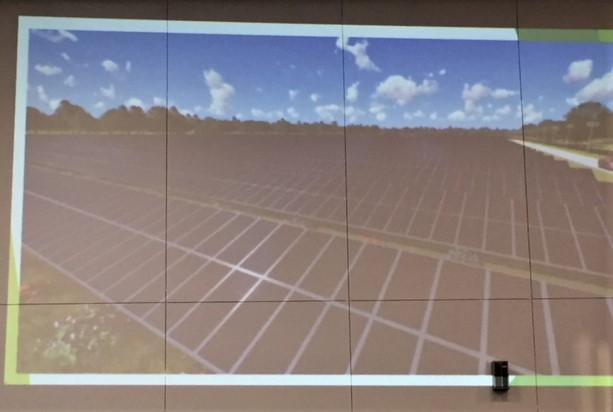 Rendering of proposed solar park