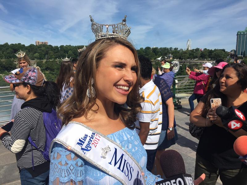 Miss New York 2017 Gabrielle Walter was on hand Tuesday to welcome contestants.