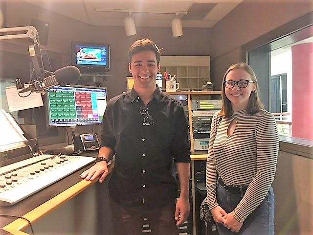 Emily Kuhn & Christopher Palumbo checked out our WBFO studio.