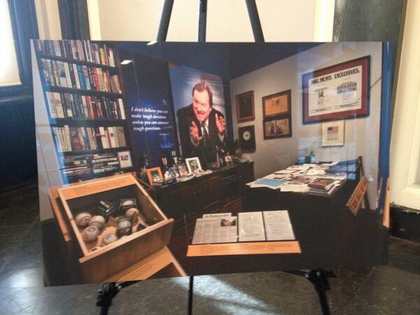 Photo of Russert's office