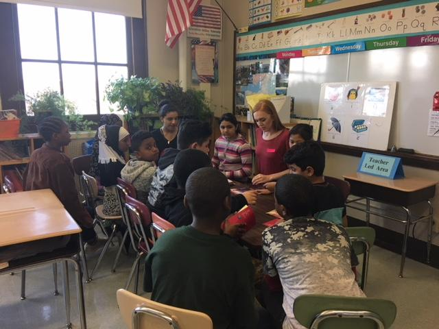 Students in a classroom School 6 Buffalo Elementary School of Technology.