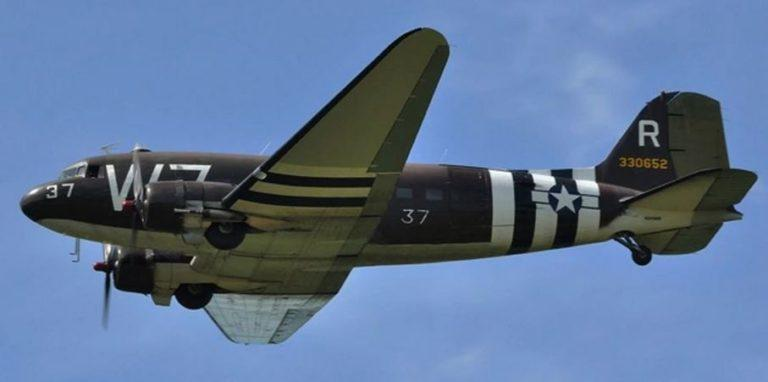 This C-47 and three other planes will fly over Western New York as part of the Thunder of Niagara Airshow.