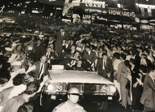 RFK's motorcade on Main St. Buffalo during a 1965 campaign stop