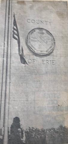 A Flag at Half Staff outside Erie County Hall, 1965