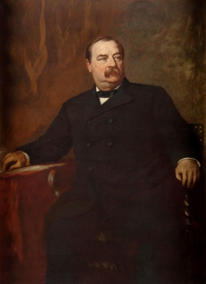 Portrait of Grover Cleveland as governor of New York, c. 1884.