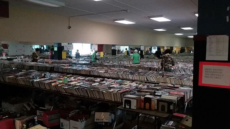 Tens of thousands of books in several rooms are available for purchase this weekend at the AAUW's annual book sale to support their scholarship and interest-free student loan programs.
