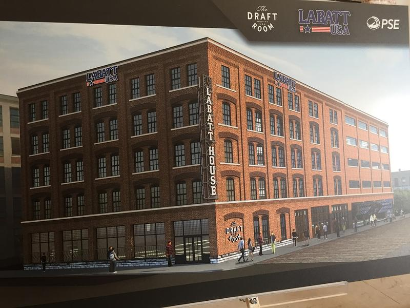 A rendering of the exterior of the Labatt House, to open this November at Perry and Illinois Street in Buffalo.