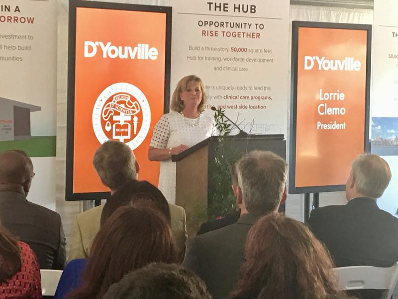 D'Youville President Lorrie Clemo.