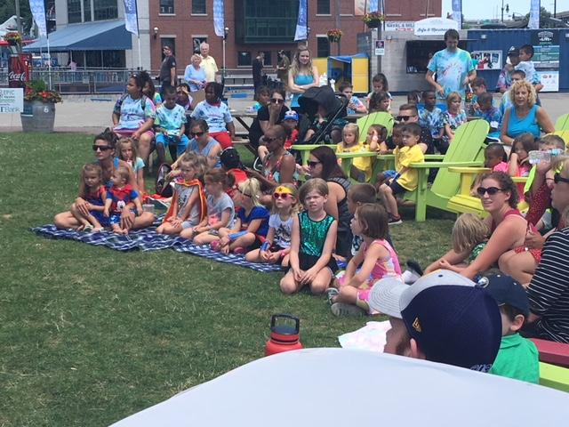 Storytime at Canalside.