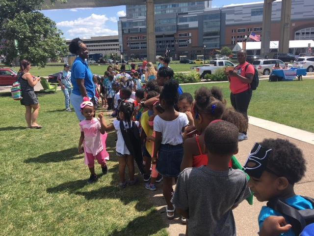 Storytime at Canalside promotes reading with fun themes.