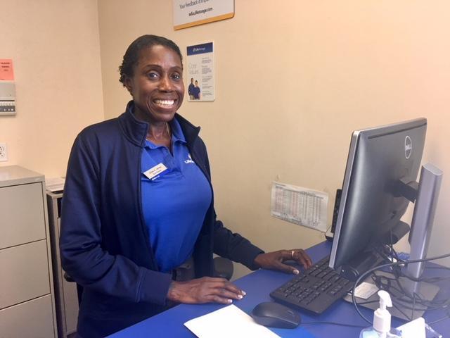 Jillian James of Cheektowaga at her job at LifeStorage in Lackawanna.