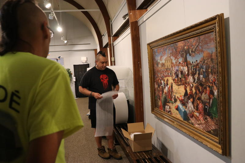 Museum Staff Prepare Collection for Transfer