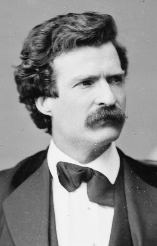 Samuel L. Clemens, aka Mark Twain, at age 35 in February 1871, his second and final year as co-editor of the Buffalo Express.