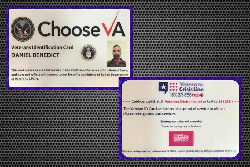 The VA is now mailing ID cards to veterans who apply for them online. The cards include the logo of Office Depot, which is paying the cost to print and distribute them through 2020.