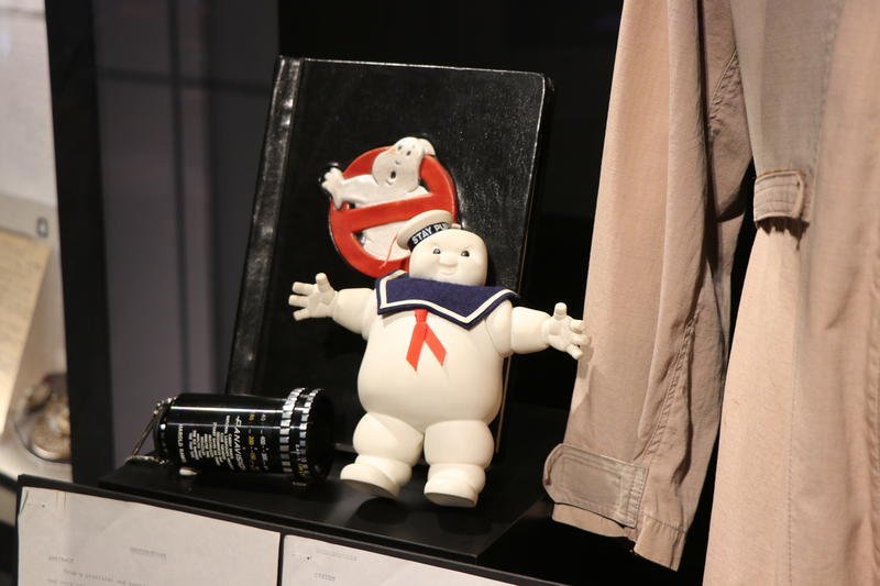 Artifacs from the display housing Harold Ramis' Ghostbusters suit