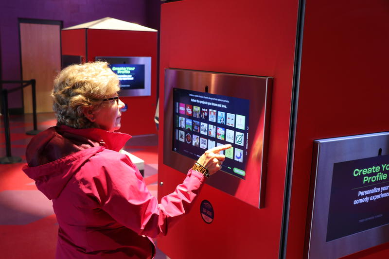 Visitors create their 'humor profile' at kiosks on their way in to the National Comedy Center