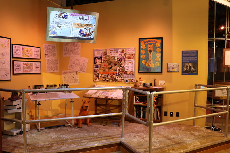 The contents of Marmaduke creator Brad Anderson's studio on display at the National Comedy Center