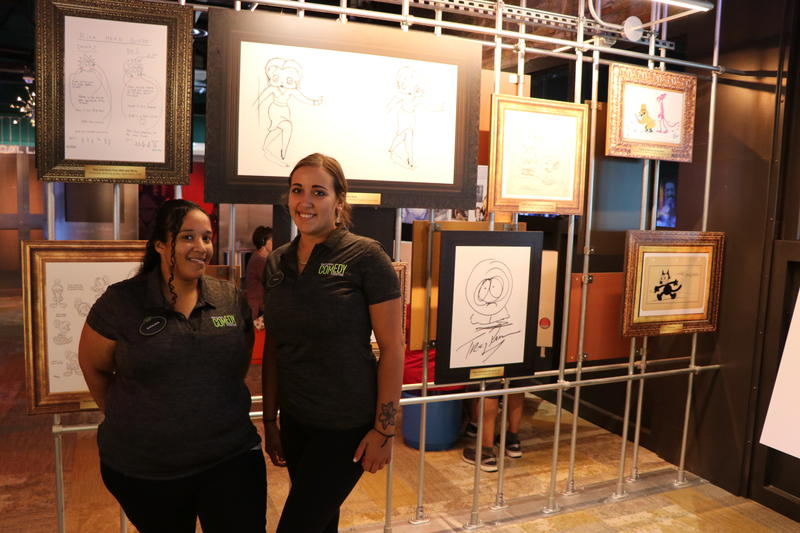 Saraden White and Sarah Lang are members of the guest services staff at the National Comedy Center