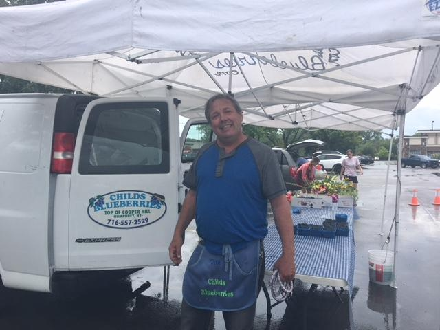 Dan Childs of Childs Blueberry Farm is from Humphrey, N.Y.