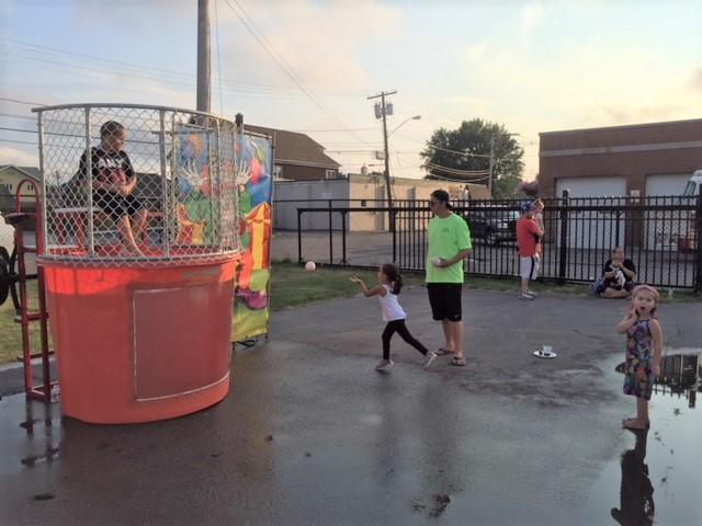 A dunk tank was a favorite.